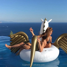 White inflatable unicorn for water entertainment inflatable float for pool