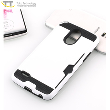 Cheap plain card slot tpu pc mobile phone cases for lg k10 pro case cover