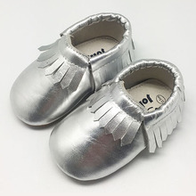 Fashion Infant Baby Moccasins Tassel Leather Baby Shoes Soft Sole