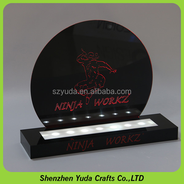 New arrival logo engraved acrylic material 30ml e-juice display rack vapor holder acrylic led sign with base