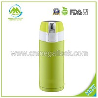 Green 350ml Stainless Steel vacuum flask keeps drinks hot and cold