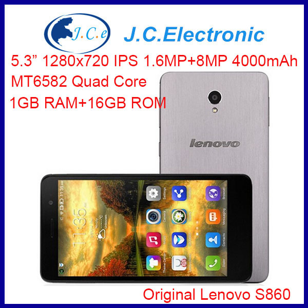 Lenovo S860 Quad core Smartphone 1280x720 IPS HD Touch Screen 16GB ROM with GPS Bluetooth Android 3G phone