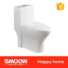 8018 SMOOW Ceramic Sanitary ware 690*370*730 WC Toilet White color glaze fashion design SiPhon one-piececloset