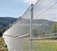 Galvanized Welded Wire Mesh Fence Panel 4.0mm 2.5x2m