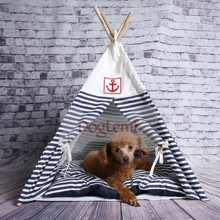 Indian Foldable Pet Tent Dog Cat bed Kennel Nest Wood Pet Puppy Igloo House