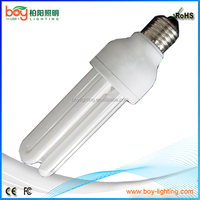 Milky white 2u 3u 4u CFL light bulb 11w 15w 20w 30w 40w 50w energy saving bulb light coldwhite 6000k 6500k