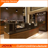 Wooden jewellery counter interior design mdf jewerlry display showcase