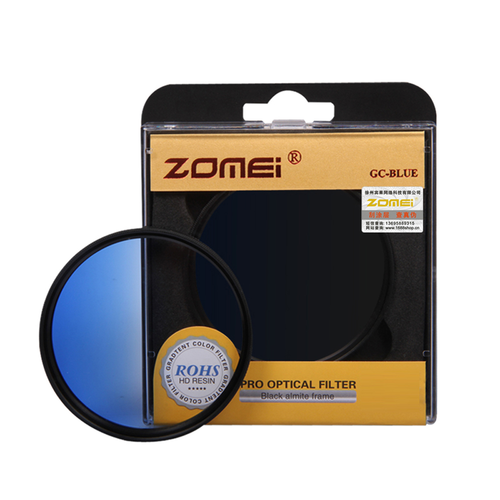 ZOMEI Graduated Blue Color Filter 77mm Camera Filter