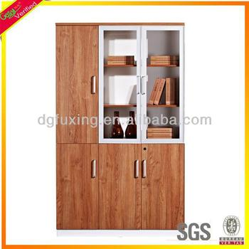 school bookcase,teak bookcase, glass doors bookcase F13-3011