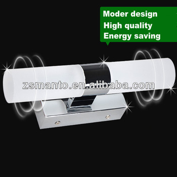 Modern design bathroom LED glass wall light,IP44