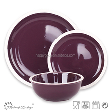 New year designs dark color dinnerware 12pcs ceramic dinnerware/ceramic dinnerware/dinner set for present