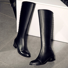 Wholesale Genuine Leather Closed Toe Zipper Sexy Over Knee Boots Lady 2017