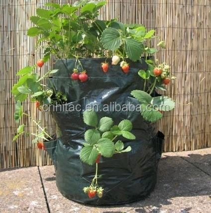Pop up Strawberry Planter Bag,Grow Bags Strawberry Planter,Plant Pocket Strawberry Grow Bag
