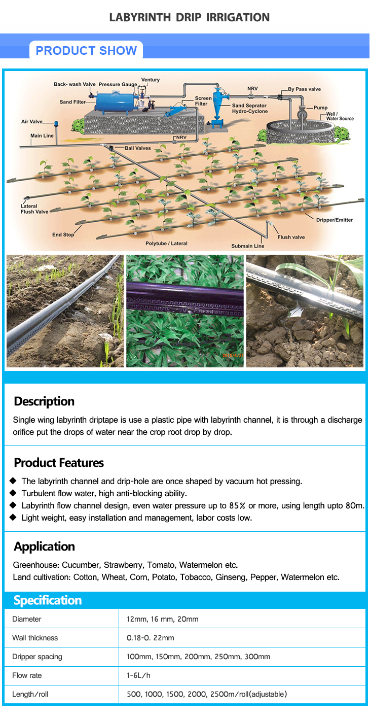 VODAR High Quality Irrigation Drip Tape for Irrigation System Drip