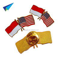 2016 High quality metal custom cross flag lapel pin