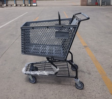 Heavy Duty plastic shopping trolley cart For Super Market Grocery Shopping Cart