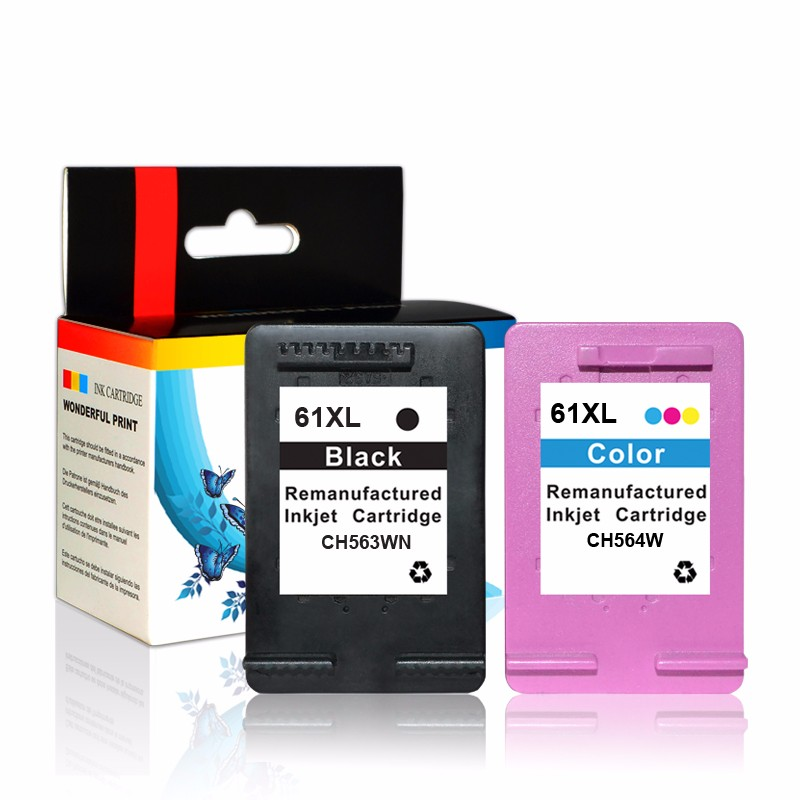 compatible ink cartridge for HP 61 BK CH561WE reset chip