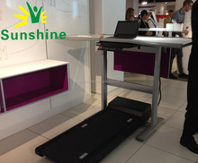 Manual and electric desk for office, automatic lifting metal, home desks