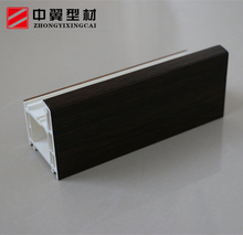 Plastic hot selling 65mm swing style upvc steel reinforcement sash profiles for windows and doors