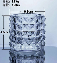 2017 New design clear glass candle holder, glass tealight holder