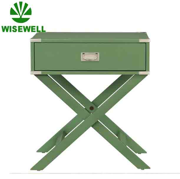 2017 Hot selling solid wood corner side table end table night side table Meadow Green