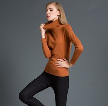 ZH00672B New design fashion turtleneck pullover knitted women sweater