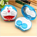 Lovely cartoon character cat contact lens case/custom contact lens box/plastic cosmetic container