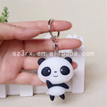 Custom made live animal panda pvc keychain, 2d custom shaped soft pvc keychain