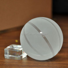 crystal basketball with short base for desktop or table decoration glass basketball