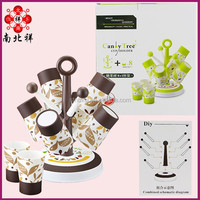 Candy Tree Coffee Tea Cup Set Plastic 8 In 1 Water Cups Holder