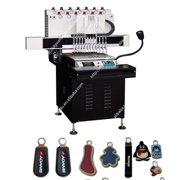 High speed 12 color PVC Zipper pull making machine