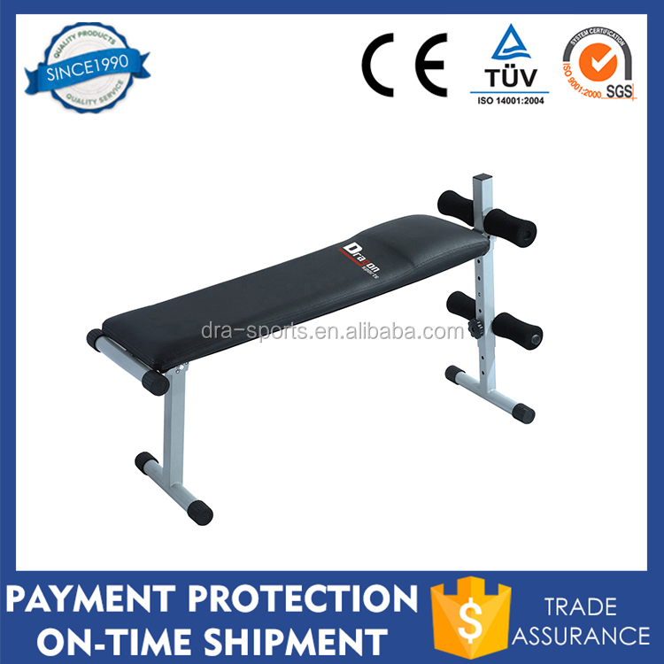 NEW Adjustable Incline/Height & Leg Support Padded Backrest Sit Up Ab Bench SUB50 Flat Weight Bench