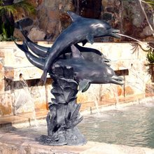 high quality bronze whales fountain sculpture