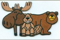 Custom animal Embroidered Patches, China supplier customized embroidered badge