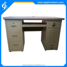 Computer table with four drawers and cabinet