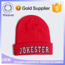 Alibaba China Wholesale 3D Embroidery Reggae Knit Walmart Thin Cotton Beanie Hat