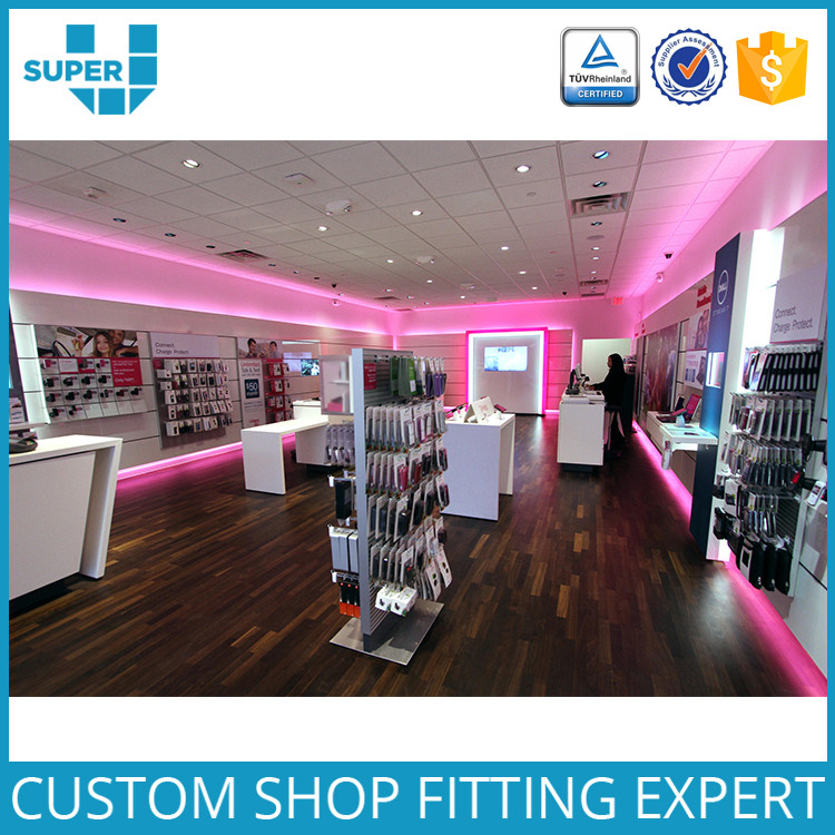 Modern Excellent Retail Showroom Cell Phone Store Interior Design