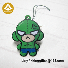 2016 Customized Various Scent Rose Printed Cartoon Hulk Shaped Car Auto Air Freshener Sexy Perfume For Car
