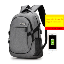 2017 Men's Backpack Bag External USB Charge Brand Laptop Notebook bag for Men