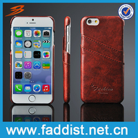 TOP product PU leather back cover case for iphone6s,card holder case for iphone 6s