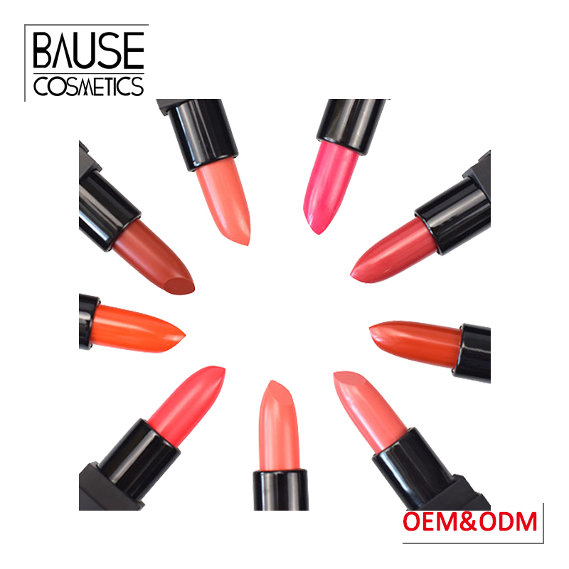 OEM makeup cosmetic no label organic flavored lip stick custom private label 18 hour red matte lipstick