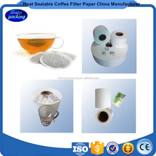 Heat sealing coffee filter paper in roll with price
