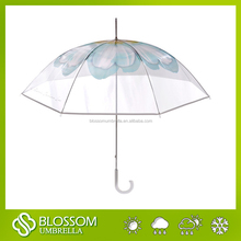 metal shaft manual clear poe umbrella for magazine style