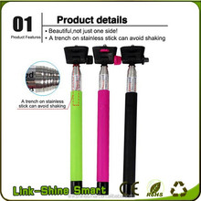 Good quality bluetooth selfie stick monopod ,mini selfie-stick Z07-5 wholesale