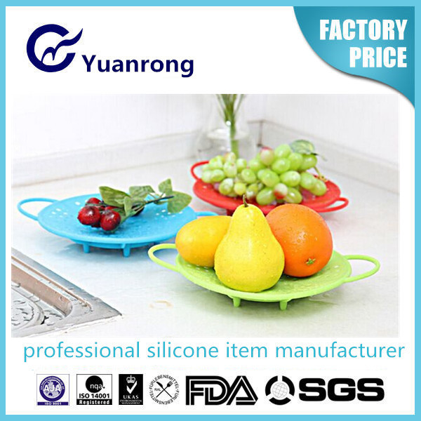 100% Silicone Washable Silicone Food Steamer Home Steaming Pan
