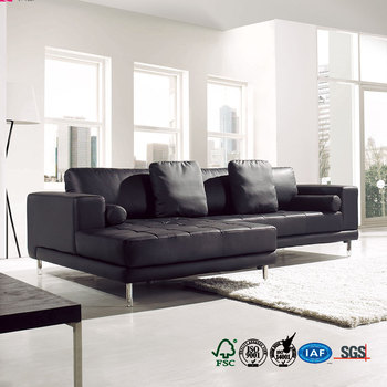 Split or synthetic pvc public area sectional sofa