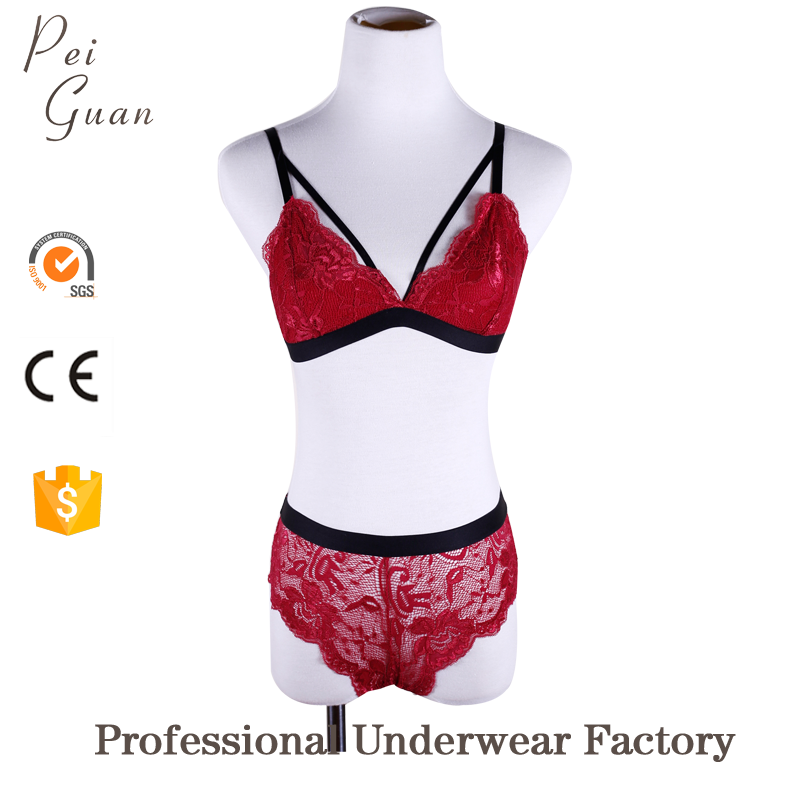 Hot sale cheap stylish wholesale lace womens hot sex bra images deep-v bralette set teenage girl bra and underwear