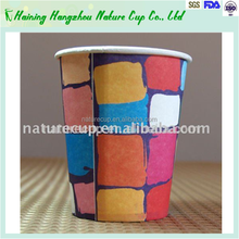 disposable 12oz single PE paper cup for hot drink