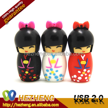 Japanese Doll Novelty USB Pendrive Gift For Girls 8GB Customized Bulk items Promotionals