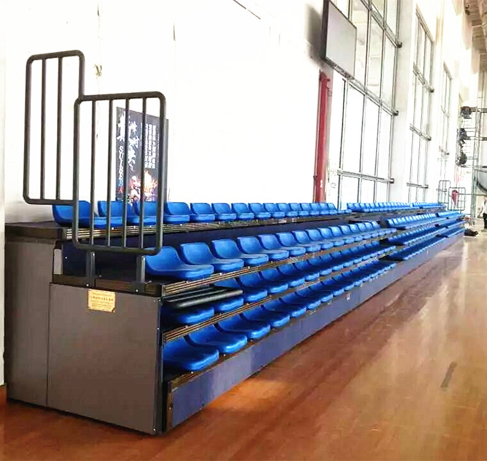 2016 China university basketball portable plastic chair retractable bleachers